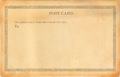 Empty old post card Royalty Free Stock Photography