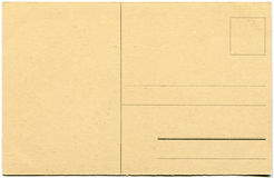 An empty old postcard. Stock Image