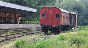 Empty Old Railway station Stock Photos