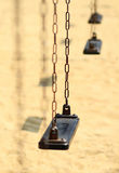 Empty old swing set Stock Image