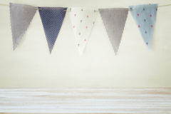Empty old table in front of Carnival and Birthday party background. Useful for product display montage.  stock images