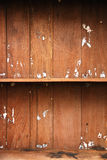 Empty old Wood Shelf Stock Photography