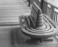 Empty old wooden chair Royalty Free Stock Photos