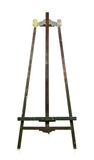 Empty old wooden easel Royalty Free Stock Image