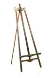 Empty old wooden easel Royalty Free Stock Photos