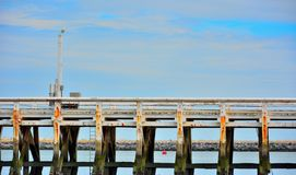 Empty old wooden  pier Royalty Free Stock Photography