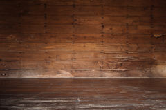 Empty of old wooden room Royalty Free Stock Images