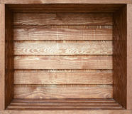 Empty old wooden shelf Royalty Free Stock Image