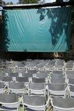 Empty open air cinema Royalty Free Stock Photos