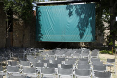 Empty open air cinema Royalty Free Stock Image