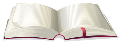 An empty open book. Illustration of an empty open book on a white background Stock Photo