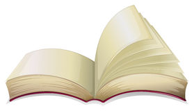 An empty open book. Illustration of an empty open book  on a white background Stock Images