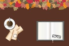 Autumn table concept Royalty Free Stock Images