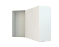 Empty open box isolated on white background Royalty Free Stock Photo