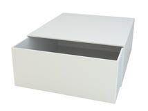 Empty open box isolated on white background. Royalty Free Stock Photo
