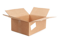 Empty open box Royalty Free Stock Photography