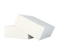 Empty open box  on white background. Royalty Free Stock Photo