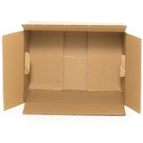 Empty and open box on the white background Royalty Free Stock Image