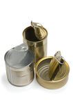 Empty open cans Royalty Free Stock Photography