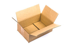 Empty open cardboard box Royalty Free Stock Photo