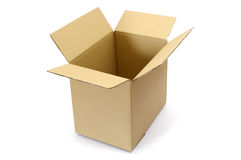 Empty, open cardboard box Royalty Free Stock Photo