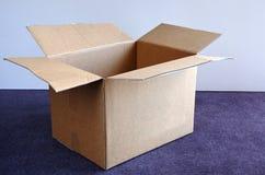 Empty open cardboard box Stock Image
