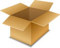 Empty open cardboard box Royalty Free Stock Photography
