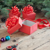 Empty open Christmas gift box Royalty Free Stock Image