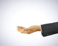 Empty open hand of businessman Stock Photo