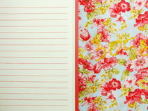 Empty open notebook paper with red lines Royalty Free Stock Photos