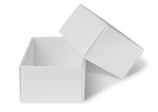 Empty open package box Stock Image
