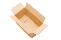 Empty open paper box stock image