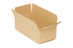 Empty open paper box Stock Image