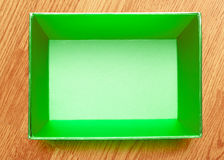 Empty open square box Royalty Free Stock Image