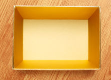 Empty open square box Royalty Free Stock Photography