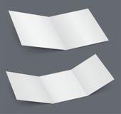 Empty open white brochure Stock Photo