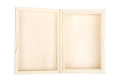 Empty open wooden box Royalty Free Stock Image