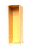 Empty open yellow paper box Stock Photo