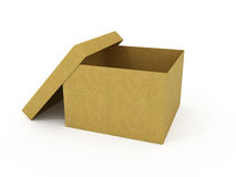 Empty opened cardboard box Royalty Free Stock Image