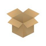 Empty opened cardboard box Stock Photo