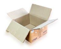 Empty opened corrugated cardboard box Royalty Free Stock Photos