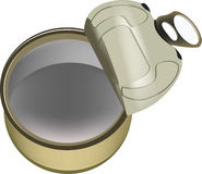 Empty Opened Tin Can Stock Photography