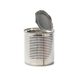 Empty opened tin Isolated on a white background Stock Photos