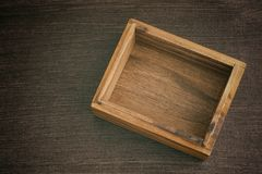 Empty opened wooden box Stock Photography