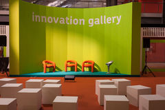 Empty orange chairs at Host 2013 in Milan, Italy Stock Photography