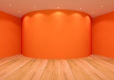 Empty Orange Curve Room Royalty Free Stock Photo