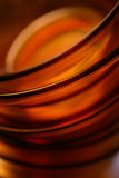 Empty orange glass bowls Royalty Free Stock Photos
