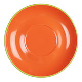 Empty orange plate Royalty Free Stock Images