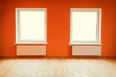 Empty orange room Royalty Free Stock Photo