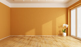 Empty orange room Royalty Free Stock Photo
